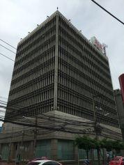Brutalist buildings along the Suriwongse Road