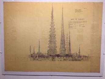 Survey Drawing of Watts Towers from the Spaces archive