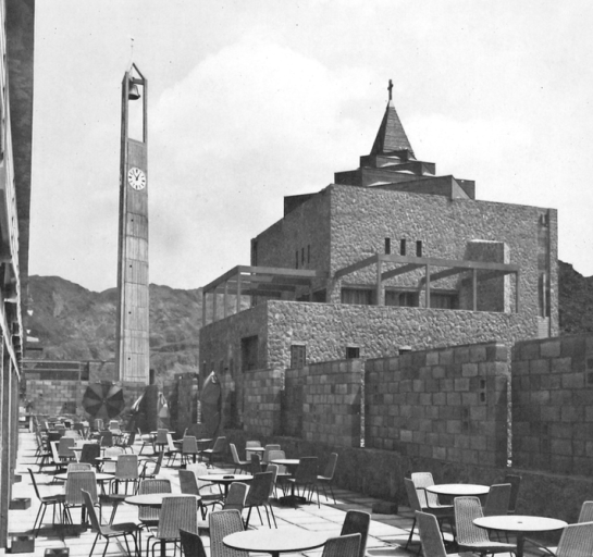 The Church and Clock Tower at Little Aden, 1965