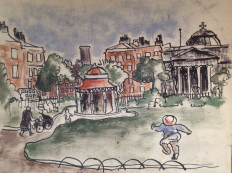 Bill Henderson Sketch: Abercromby Square, Liverpool