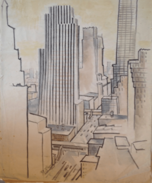 Bill Henderson Sketch: New York Summer Placement, 1936