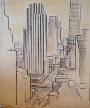 Bill Henderson Sketch: New York Summer Placement, 1936