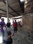 Obelisk base with Allotey Bruce-Konuah (L), Ola Uduku (C) Irene Appeaning Addo (R)