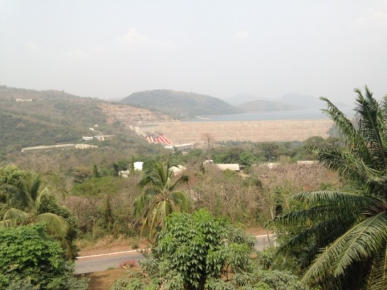 View of the Akosombo Dam