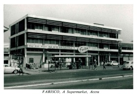 Paterson Simon: Farisco Supermarket and toy shop, c. 1962. Many thanks to John Traynor for sharing the postcard.